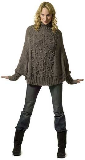 вязаное пончо (276x520, 19Kb)