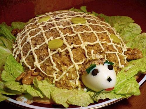 рецепты салата черепаха фото
