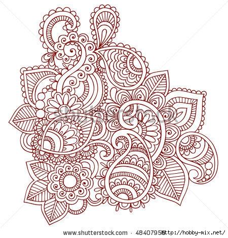stock-vector-hand-drawn-abstract-henna-mehndi-paisley-doodle-vector-illustration-design-element-48407956 (450x470, 223Kb)