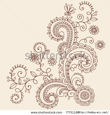 stock-vector-hand-drawn-henna-mehndi-paisley-doodle-flowers-and-vines-vector-illustration-design-elements-77751160 (450x470, 159Kb)