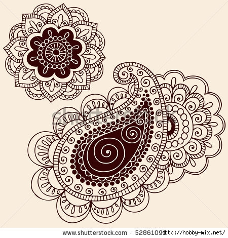 stock-vector-hand-drawn-henna-mehndi-tattoo-flowers-and-paisley-doodle-vector-illustration-design-elements-52861091 (450x470, 192Kb)