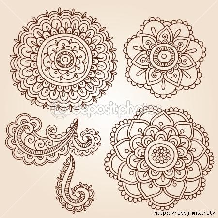 dep_8853202-Henna-Tattoo-Paisley-Flower-Doodles-Vector (450x450, 211Kb)