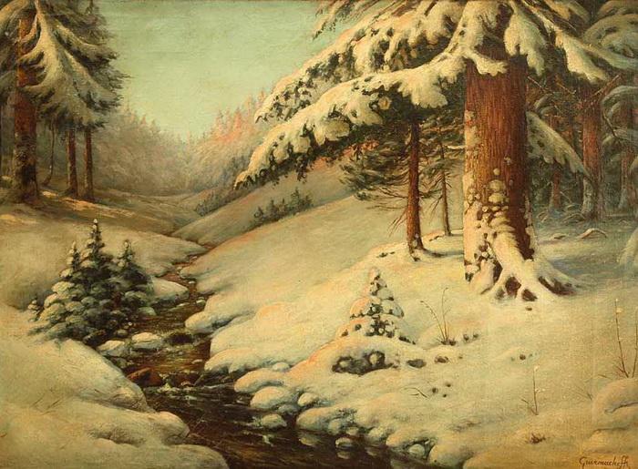 зимний пейзаж в омске.