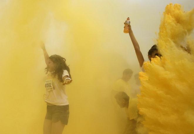 «Цветной пробег» в Рио-де-Жанейро (фото)