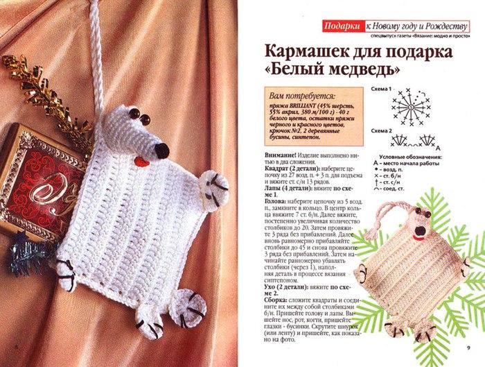 Идеи новогодних подарков крючком 31