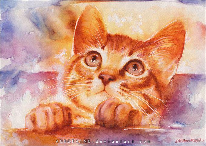 кошки в картинах Aurora Wienhold 1 (680x483, 93Kb)