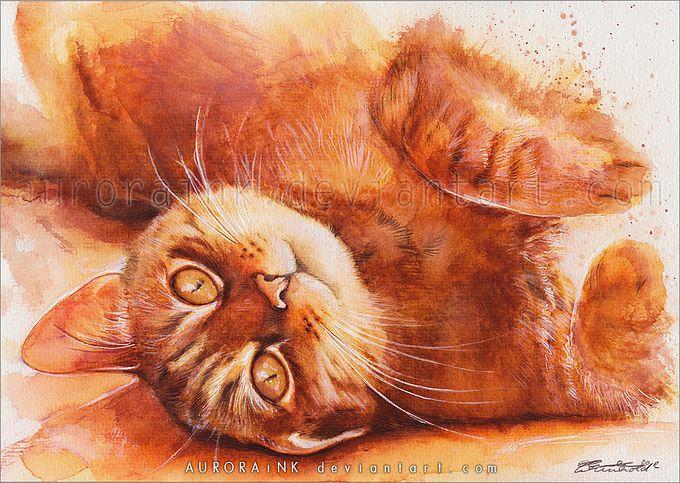 кошки в картинах Aurora Wienhold 5 (680x483, 112Kb)