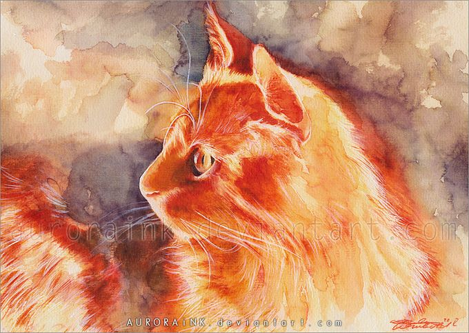 кошки в картинах Aurora Wienhold 7 (680x483, 102Kb)