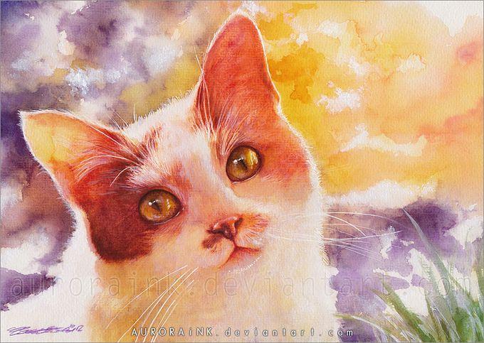 кошки в картинах Aurora Wienhold 9 (680x483, 89Kb)