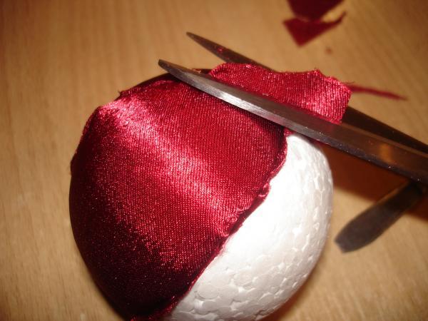 шары на елку из ткани