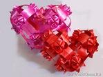 Превью новогодние игрушки сердечко из атласных лент своими руками (450x338, 83Kb)