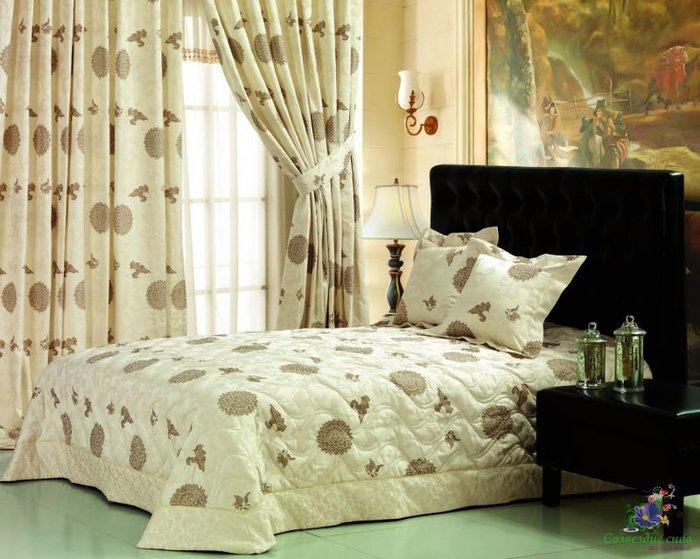 Покрывала для спальни с шитьем