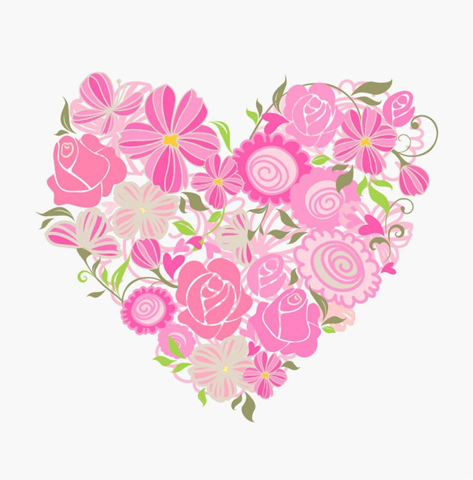 Pink-Floral-Heart-Vector-Graphic (689x700, 85Kb)