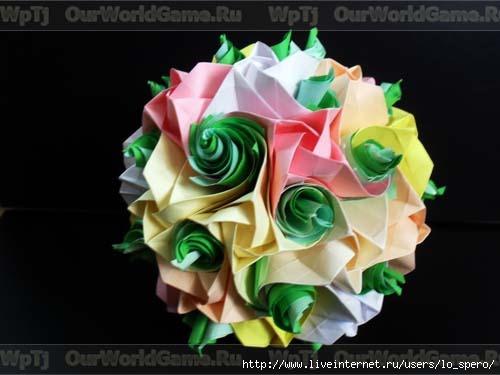 Кусудама модель Кулер и розы