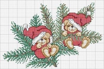 Новогодние схемы для вышивки и вязания.