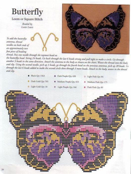 Схемы сережек из бисера кирпичным