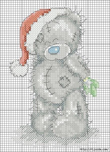 Схемы вышивки крестиком - Мишка тедди.