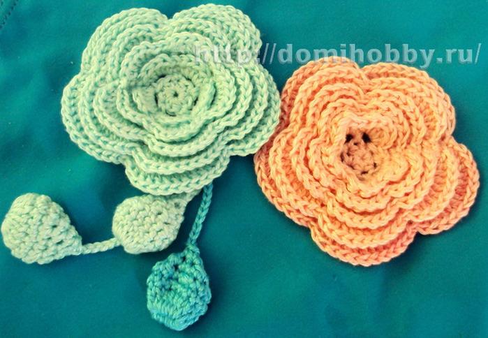 Описание вязания цветка