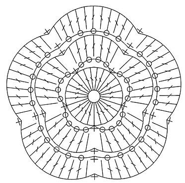Схема вязания цветов крючком:
