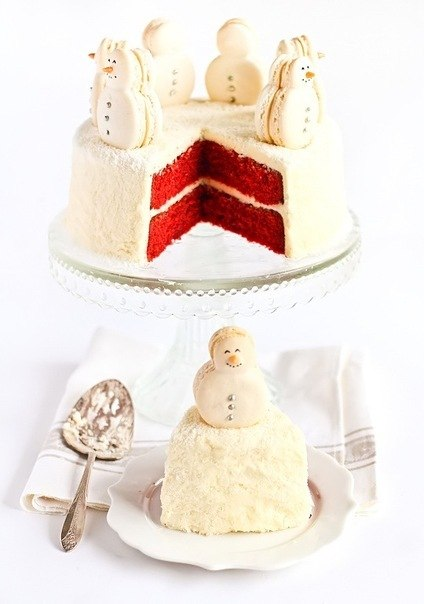 Торт со снеговиками (424x604, 39Kb)