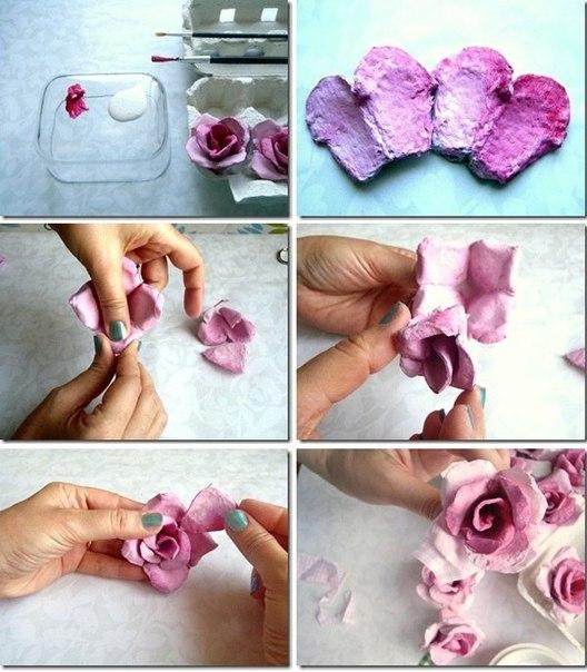 цветы своими руками из пакетов