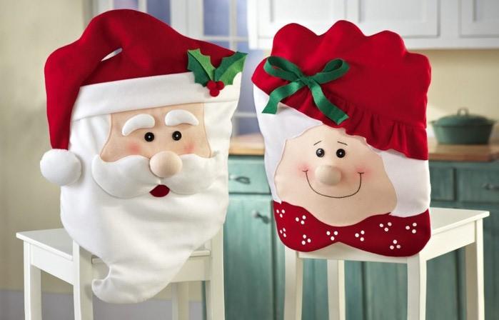 Чехлы на стул новогодние своими руками