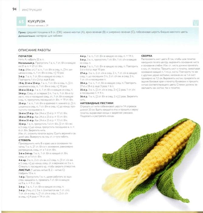 Вязание крючком фруктов с описанием 381
