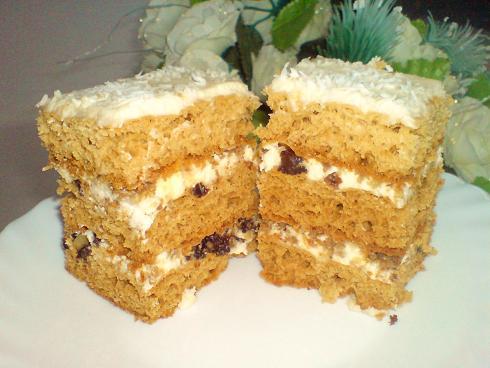 торт чорносливом рецепт