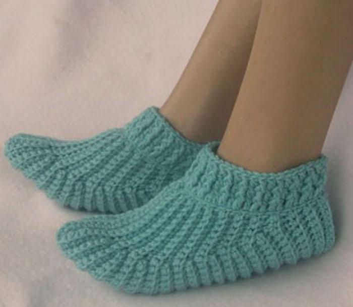 Носки, тапочки | Вязание крючком, схемы вязания ...