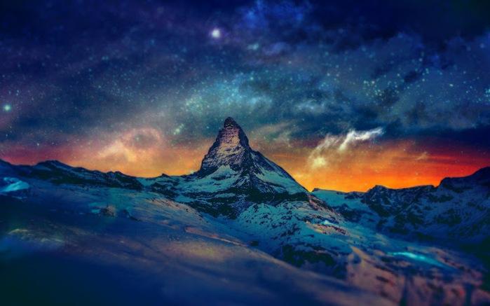 Ночные горы... (700x437, 99Kb)