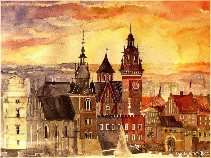 картины акварель Maja Wrońska 3 (680x511, 100Kb)