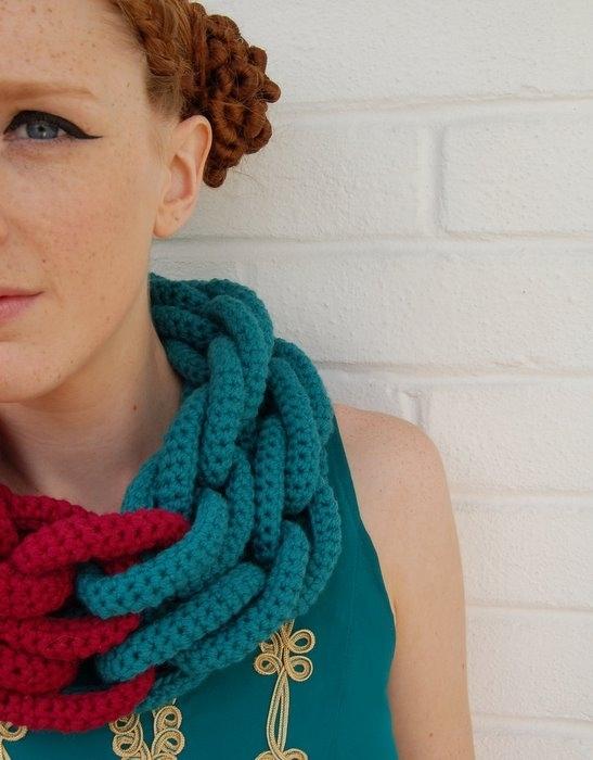 Вязание необычного шарфа 95