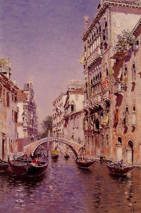 Martin Rico - Sunny canal (465x700, 98Kb)