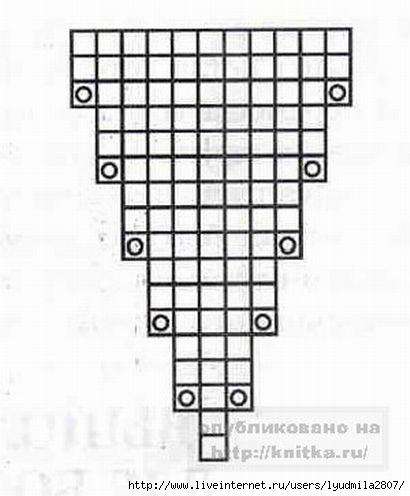 Схемы вязания варежек с пальцами 507