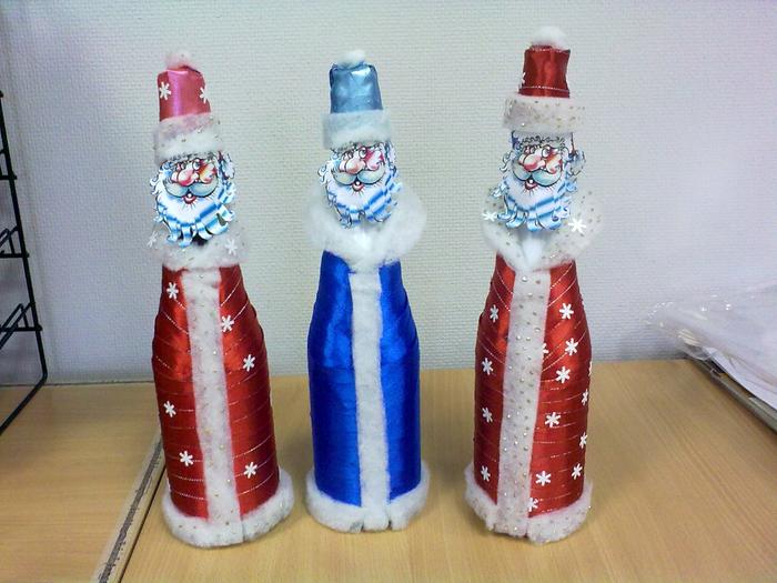 Дед мороз и снегурочка из бутылок своими руками