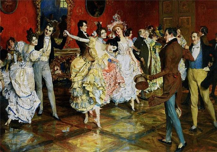 Leopold Schmutzler - At the Ball (700x490, 82Kb)