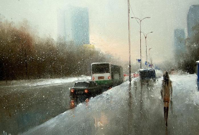 город первый снег (700x476, 63Kb)