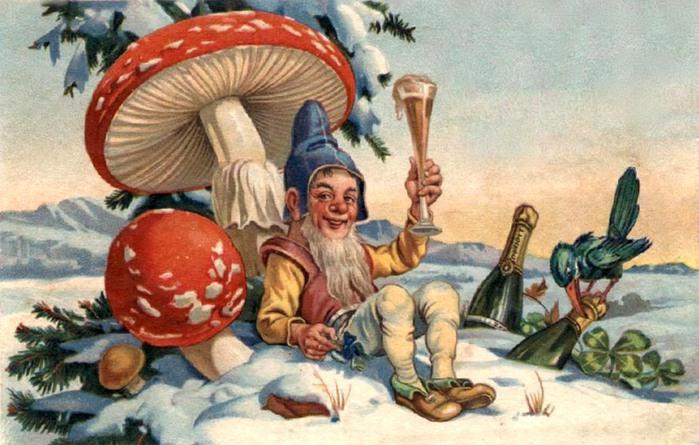 Новогодние символы: мухомор.