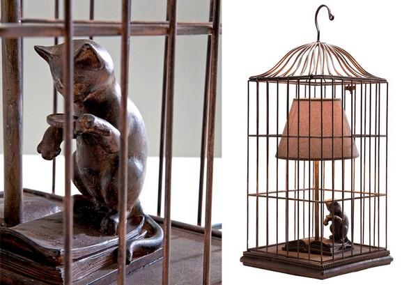 кот в клетке лампа креативный дизайн 3 (600x409, 68Kb)