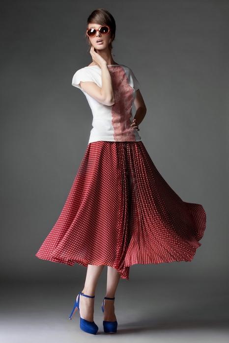 Модные красные юбки 9