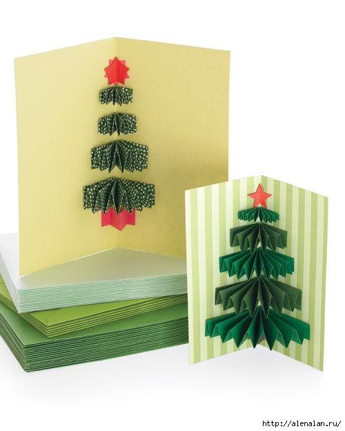 Идеи новогодних открыток своими руками День творения!