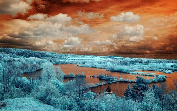 инфракрасные пейзажи фото 3 (700x437, 222Kb)
