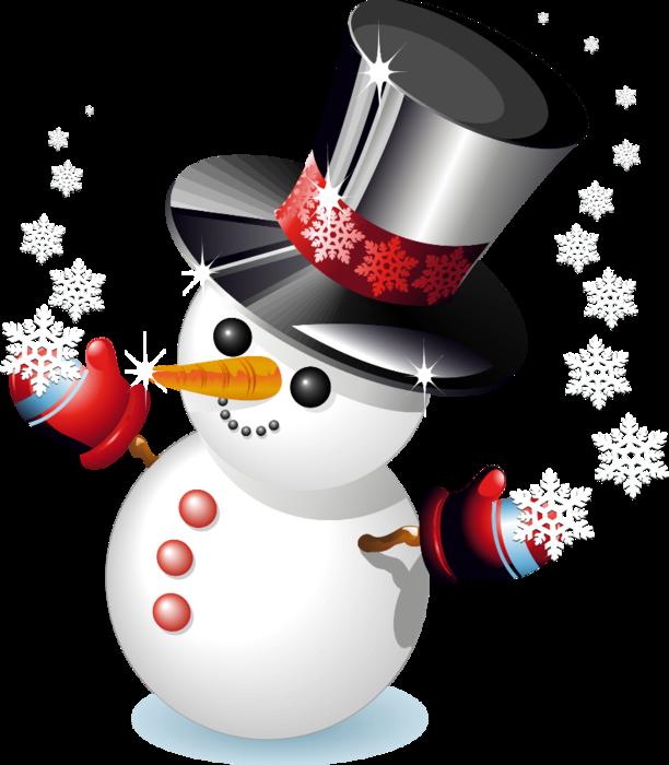 снеговик клипарт: