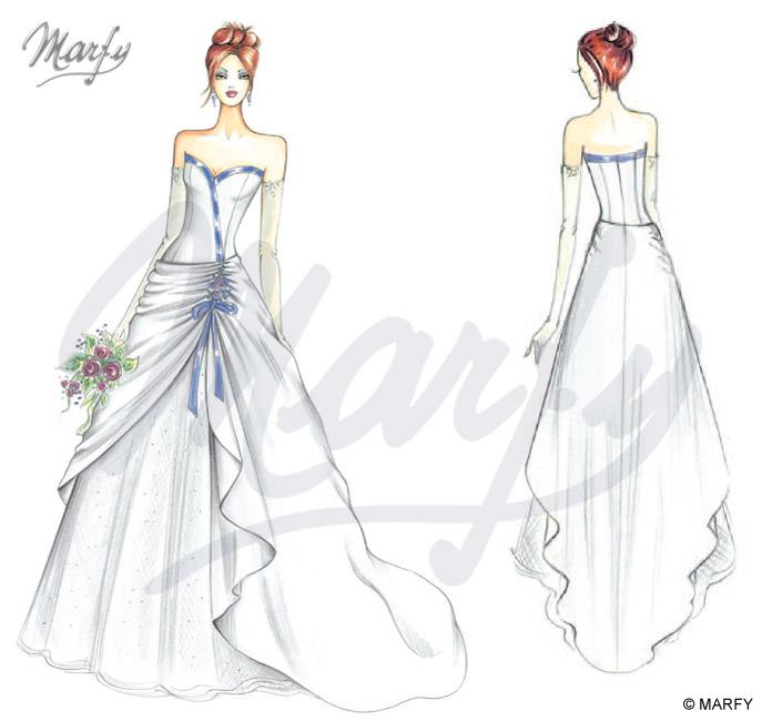 Платья дизайнерские рисованные