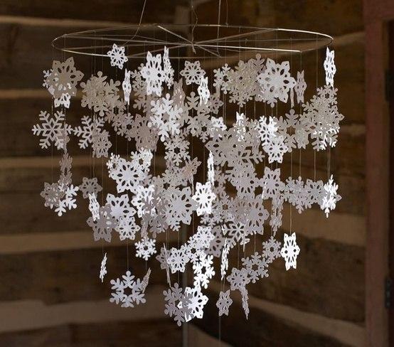 Схемы вязаных снежинок и схемы