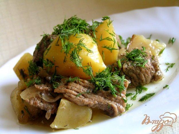 Мясо в укропе с картошкой (в горшочке) 68424