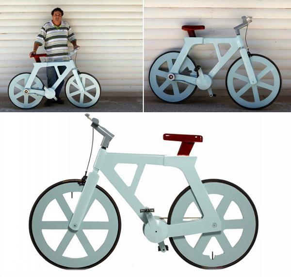 картонный велосипед Cardboard Alfa Bike 1 (600x572, 298Kb)