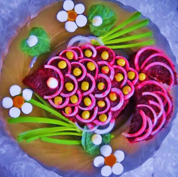 Украшения салатов своими руками для детей