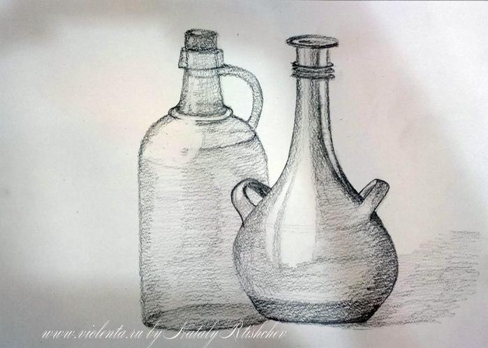Натюрморт картинки простым карандашом 6