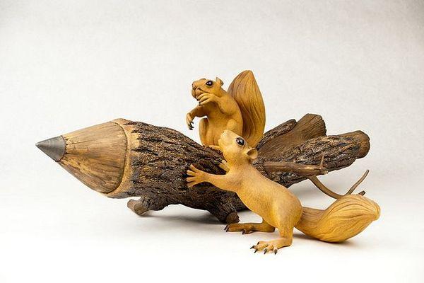 деревянные скульптуры фото (600x400, 35Kb)